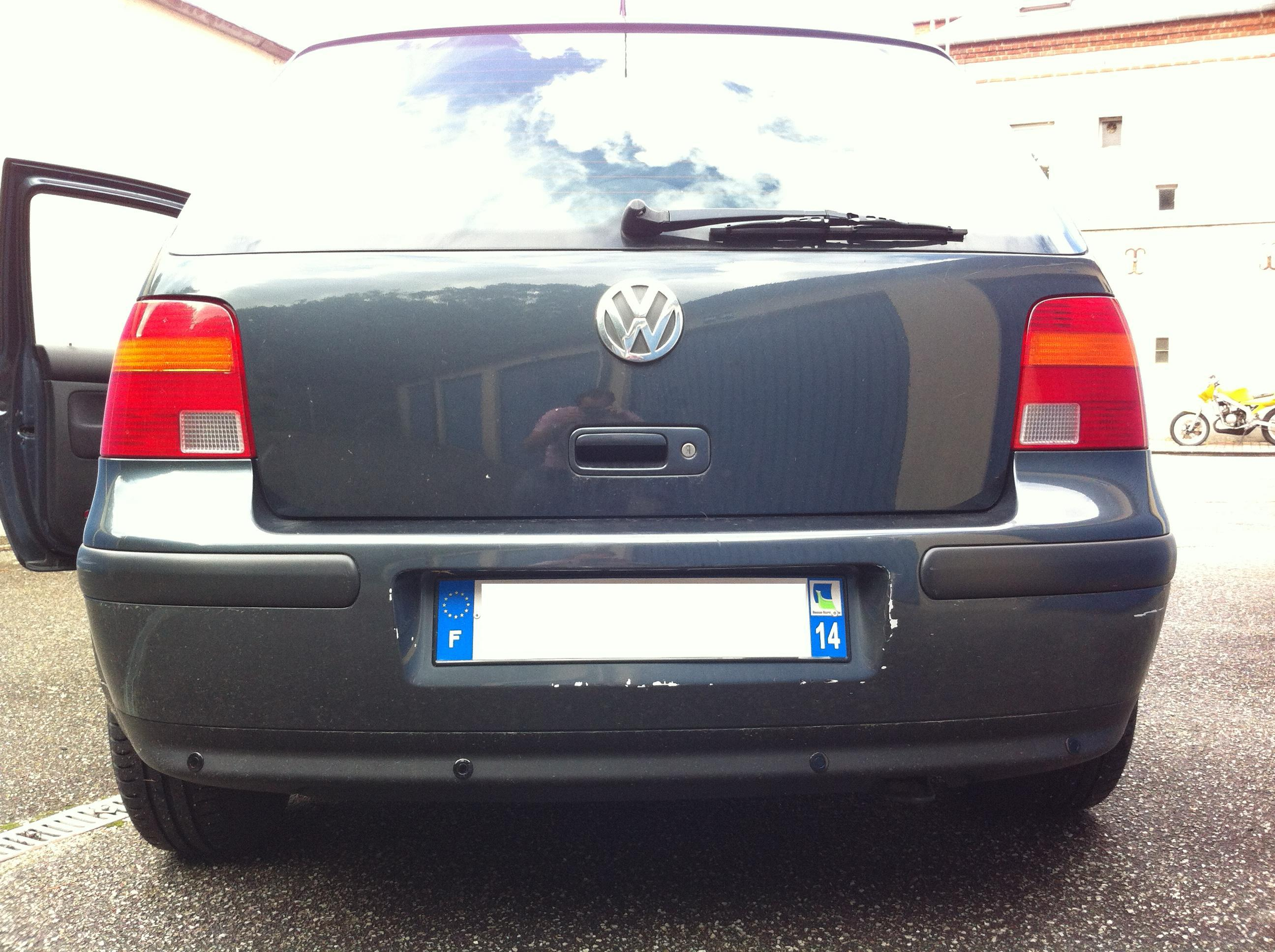 Radar recul golf 4