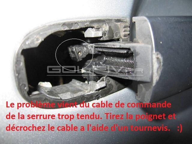 Porte arriere gauche bloqu probl mes int rieurs forum volkswagen golf iv - Comment ouvrir une serrure de porte de chambre ...