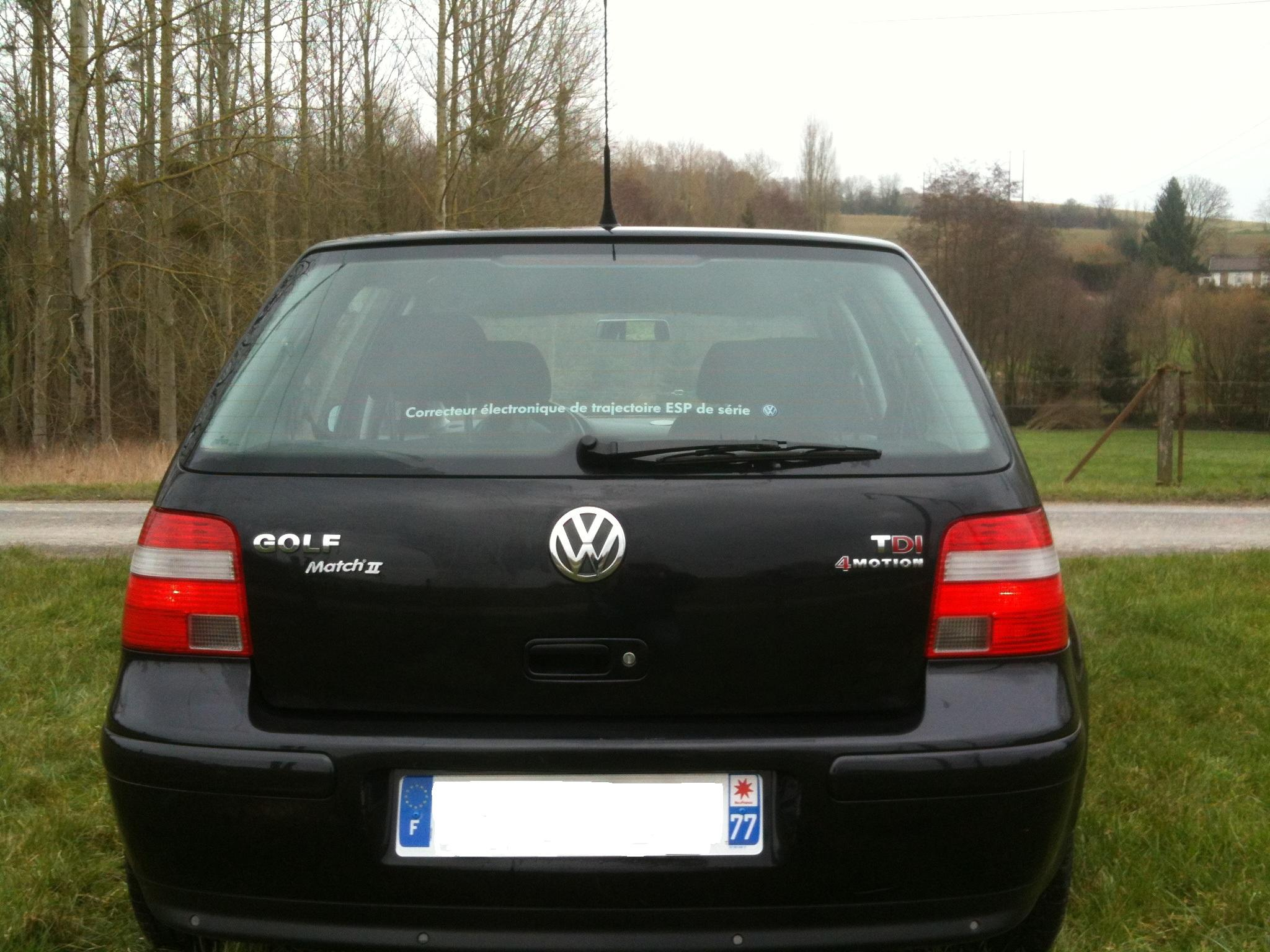 vw golf iv tdi 130 match ii 4motion 2003 photos p 1 garage des golf iv tdi 130 forum. Black Bedroom Furniture Sets. Home Design Ideas